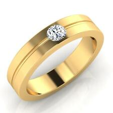 0.24 ct Natural Diamond Mens Rings Fine 14Kt Gold Ring Wedding Band Size U R W