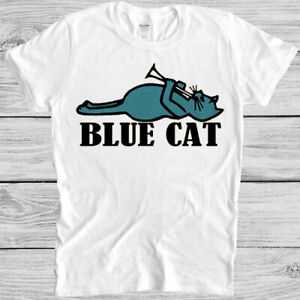 Blue Cat Records T Shirt  60s Soul R&B Music Label Retro Cool Gift Tee 600