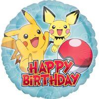 """POKEMON HAPPY BIRTHDAY FOIL BALLOON 45CM(18"""") BIRTHDAY PARTY SUPPLIES"""