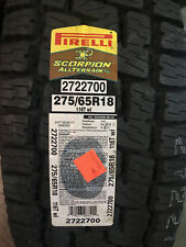 4 New 275 65 18 Pirelli Scorpion All Terrain Plus Tires