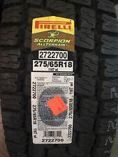 1 New 275 65 18 Pirelli Scorpion All Terrain Plus Tire
