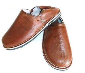 Babouche Marocaine cuir m1 cousues chaussure chausson pantoufle