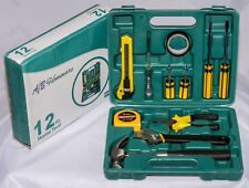 Professional 12pcs Basic Tool Set with Carry Box - High Quality by A&B HOMEWARE®