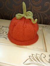 Beautifully Hand Knitted 🎃 pumpkin hat. BN
