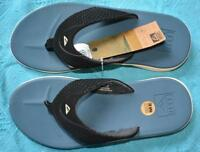 New REEF ROVER THONG - STEEL BLUE & BLACK- REEF QUALITY Mens Size 10. rrp$69.99