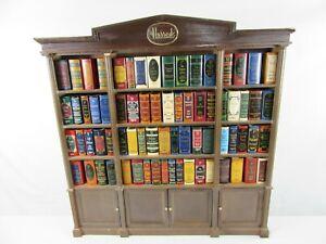 Miniature Books in wooden Library cabinet Harrods of Knightsbridge