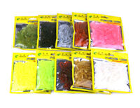 50pcs Small Soft Plastic Grubs Bait HENGJIA Pike Lure Worm Artificial Swimbait