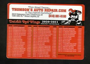 Detroit Red Wings--2020-21 Magnet Schedule--Thomson's Auto Repair