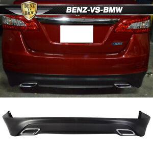 Fit For 13-17 Nissan Sentra Rear Bumper Lip Splitter Spoiler Kit PP OE Style