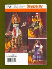 Simplicity Sewing Pattern 2331~Gypsy/Fortune Teller Costume (14-22) OOP