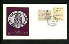 Postal History Finland Fdc #621-622 Europa postal service map telegraph 1979