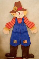 "FALL PRIMITIVE WOOD CRAFT PATTERN-""SAWYER""-42"" TALL(w/o stake) JOINTED SCARECROW"