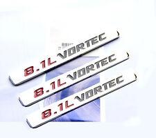 3x OEM 8.1L VORTEC HOOD emblems decals For GMC Sierra 2500HD 3500 HD YU