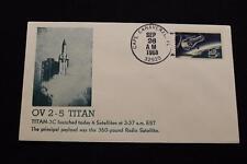 SPACE COVER 1968 HAND CANCEL OV 2-5 RADIO SATELLITE LAUNCH TITAN-3C (2217)