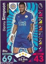 2016 / 2017 EPL Match Attax Base Card (130) Danny SIMPSON Leicester City