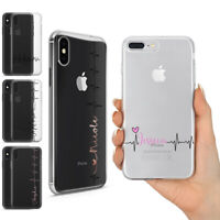 PERSONALIZED CUSTOM NAME Love Heartbeat life Line Gel CASE FOR iPhone 11 Pro Max
