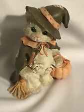 """New ListingEnesco Calico Kittens - """"I'm Bewitched With Friendship"""" Figurine No Box"""