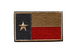 TEXAS FLAG HOOK & LOOP ARMY MILITARY TACTICAL PATCH -#6