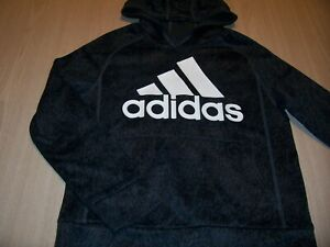 ADIDAS LONG SLEEVE GRAY/BLACK HOODIE BOYS SMALL 8 EXCELLENT CONDITION