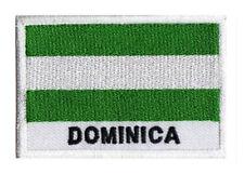 Patch brodé écusson à coudre patche drapeau DOMINIQUE 70 x 45 mm