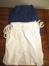 Lot 2 Pairs BLAIR Cotton Cargo Knee Length Relaxed Shorts Small S Tan Khaki Navy