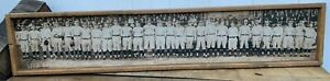 Antique Style 1922 Yankees Team Panoramic Photo print on Wood ! Babe Ruth
