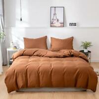 3D Pure Brown ZHUA1594 Bed Pillowcases Quilt Duvet Cover Set Queen King Zoe