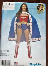 Simplicity 1024 Women's WONDER WOMAN Costume Pattern 6-14 UNCUT Halloween