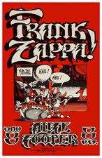 1972 FRANK ZAPPA CONCERT POSTER W-ALICE COOPER *FLYING EYEBALLS* RICK GRIFFIN