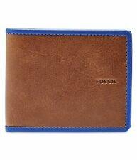 Fossil Mens Harris Bifold Wallet blue One Size