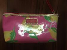 ESTEE LAUDER LILY PULITZER MAKE-UP cosmetic BAG waterproof LEMONS pink TOTE cute