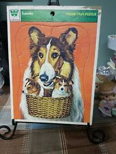 Vintage Lassie Frame Tray Puzzle 1973 Whitman Complete
