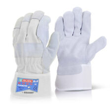 Canadian Chrome High Quality Leather Rigger Work Gloves Heavy Duty Packs of 10