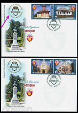 2020 Architecture,BOTOSANI,Popauti Monastery,N.Iorga,Eminescu statue,Romania,FDC