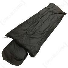 BLACK PILOT SLEEPING BAG - System Pack Military Camping Festival Cadet Outdoor