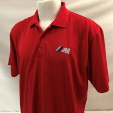 BMW M Series Mens Golf Polo Shirt Large Red 100% Polyester Unbranded Embroidered