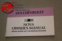 1974 74 Chevy Chevrolet Chevy II Nova Owners Owner's Manual
