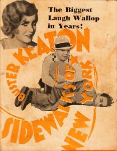 Sidewalks of New York Original Movie Herald from the 1931 Movie  Buster Keaton