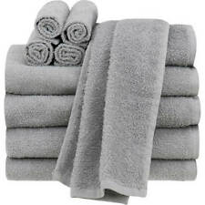 Bathroom Towel Set Of 10 Grey : 4 Bath 2 Hand Towels 4 Wash Cloths 100% Cotton