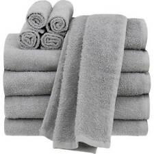 Bathroom Towel Set Of 10 Grey : 4 Bath 2 Hand Towels 4 Wash Cloths 100% Cotton