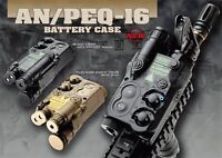 AN/PEQ-16 Dummy Case Battery Box LiPo NiMH For Airsoft AEG Black/Tan 2 Color New