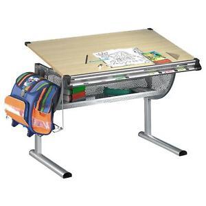 Kinderschreibtisch Schreibtisch für Kinder Schüler Jugend höhenverstellbar Buche