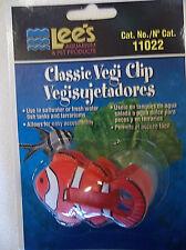 Plastic Clown Fish Vegi Clip, No. 11022, by Lee's Aquarium & Pet - New Sealed
