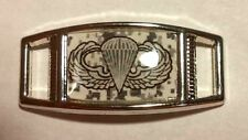 2 Military PARACHUTIST Badge AIRBORNE WINGS Shoelace Charms 4 Paracord Projects