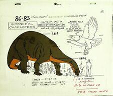 Hanna-Barbera Super Friends Production Jayna as Brontosaurus Model Sheet #Mf
