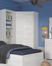 Jugendzimmer Eckkleiderschrank Kleiderschrank weißeiche 96x96cm 161131 #13607