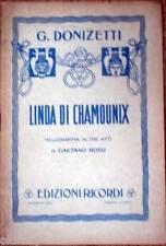 1939 libretto teatro-Gaetano Rossi-LINDA DI CHAMOUNIX-Donizetti-edizioni Ricordi