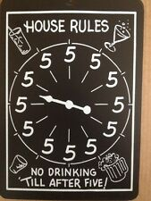 House Rules Drinking Funny Sign Gift PVC Street Sign bar man cave 8.5 x12