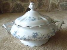 Vintage Johann Haviland China Covered Vegetable With Lid Blue Garland Wedding
