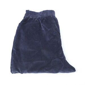 Fletcher Jones Women's Corduroy 12 Navy Blue, 30/27, Excellent! Mum Pants,